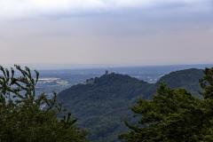 Drachenfels vom Drei-Seen-Blick aus gesehen