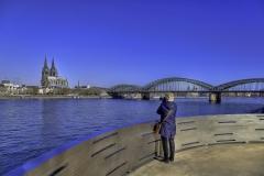Klarer Blick über den Rhein