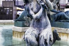 Brunnen auf dem Praca Dom Pedro IV